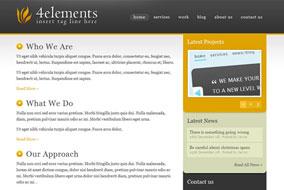 4elements website template