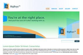 BigBoys website template