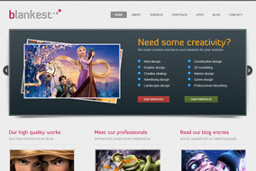 Blankest website template