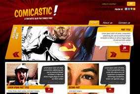 Comicastic website template
