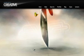 Creative portfolio fullscreen web template