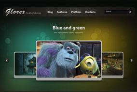 Glorex portfolio site template