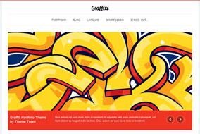 Graffiti website template