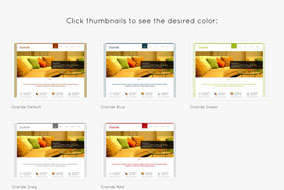 Grande website template