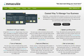 Immaculee website template