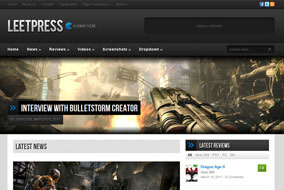 LeetPress website template