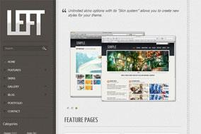 Left website template