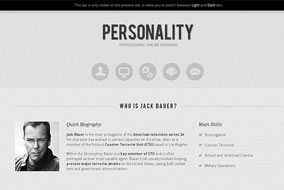 Personality website template