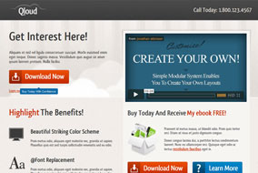 Qloud landing page template