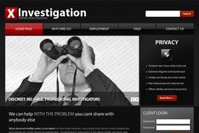 X Investigation website template