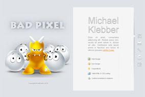 Bad Pixel vCard template