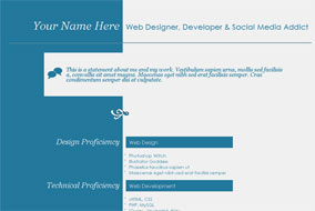 CV for Creatives website template