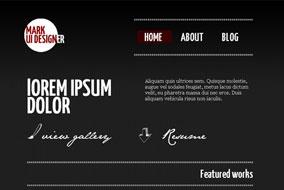Mark Website template