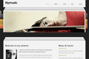 Mymusic website template