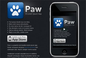 Paw mobile app template