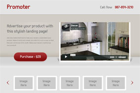 Promoter landing page template